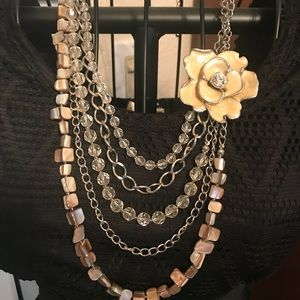Vintage Flower Collar  Necklace